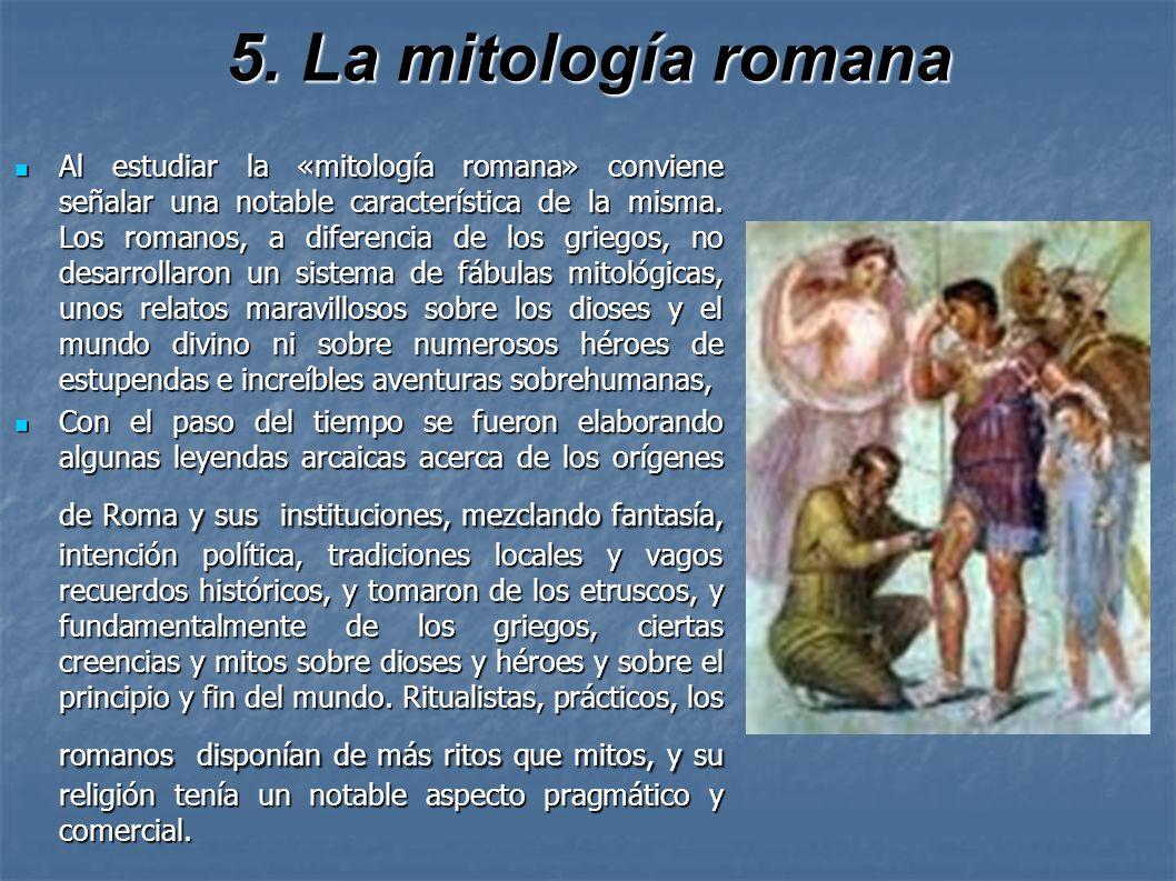 5. La mitología romana