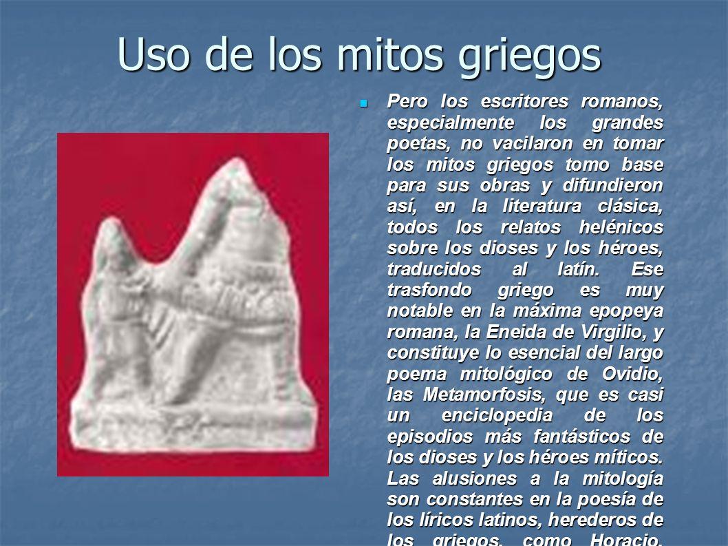 Uso de los mitos griegos