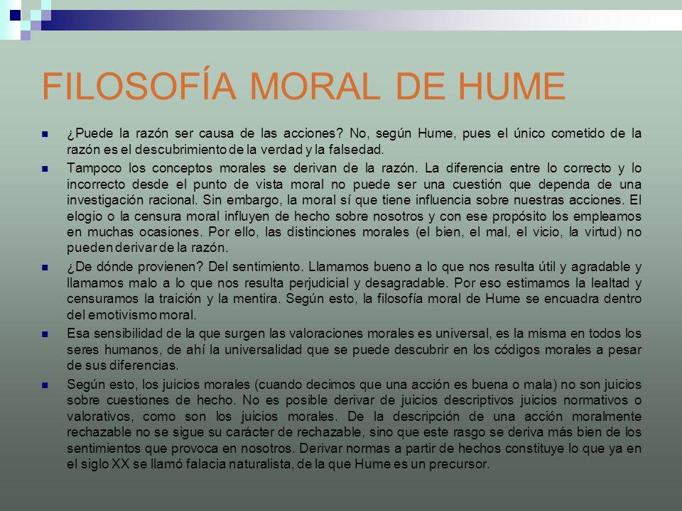 FILOSOFÍA MORAL DE HUME