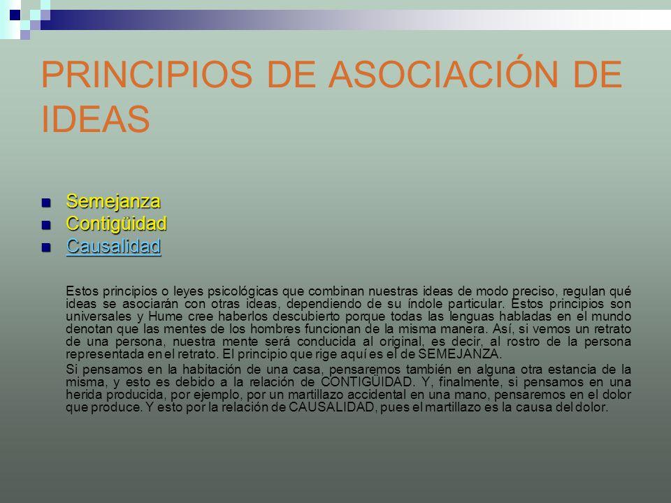PRINCIPIOS DE ASOCIACIÓN DE IDEAS