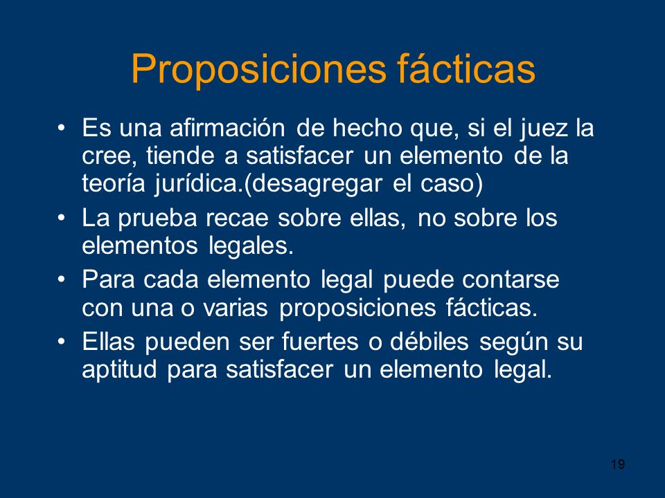 Proposiciones fácticas