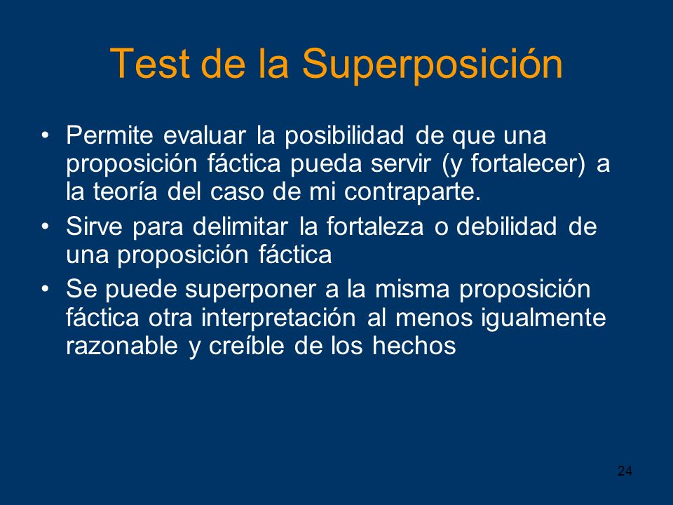 Test de la Superposición