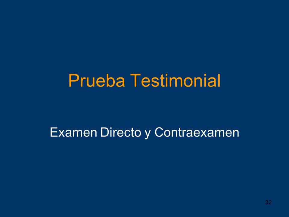 Examen Directo y Contraexamen