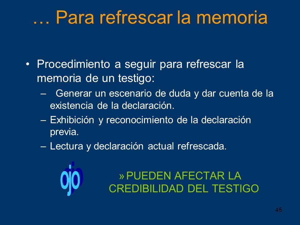 … Para refrescar la memoria