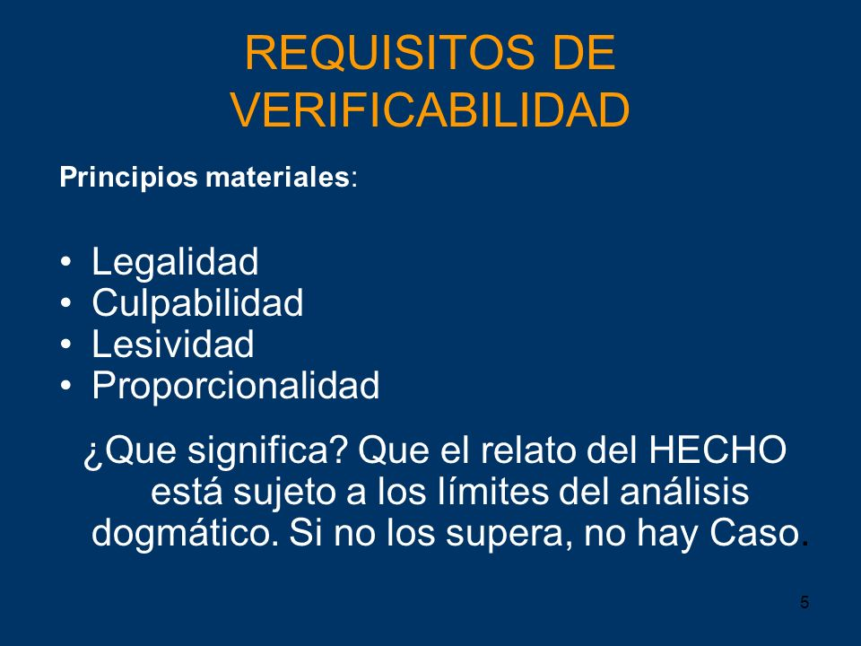 REQUISITOS DE VERIFICABILIDAD