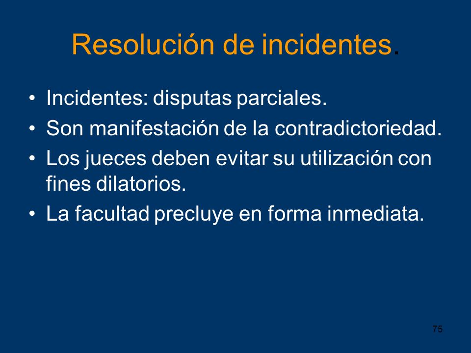 Resolución de incidentes.
