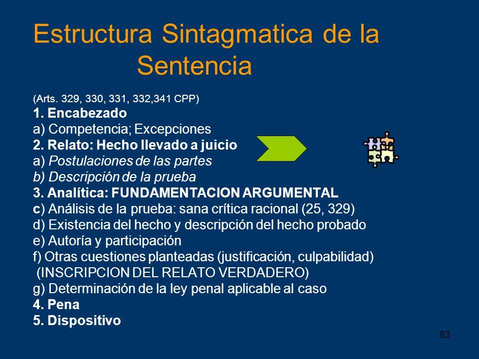 Estructura Sintagmatica de la Sentencia (Arts