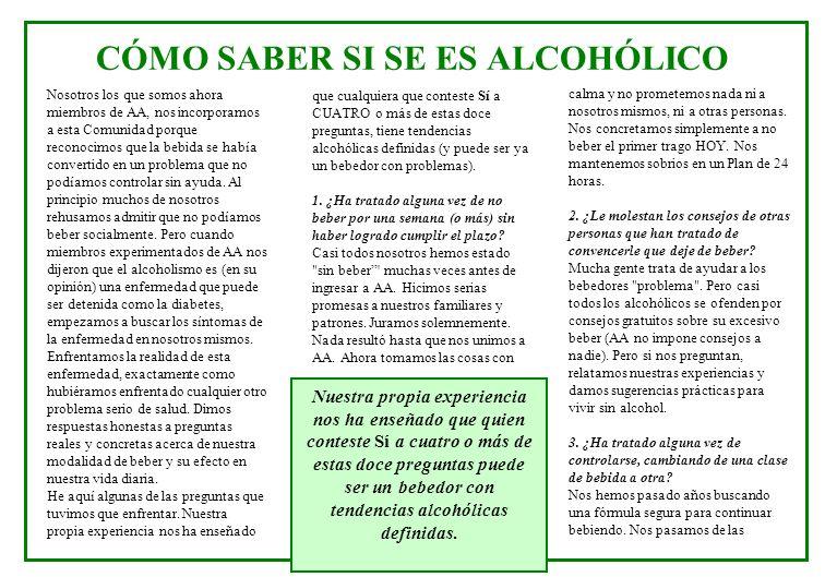 CÓMO SABER SI SE ES ALCOHÓLICO