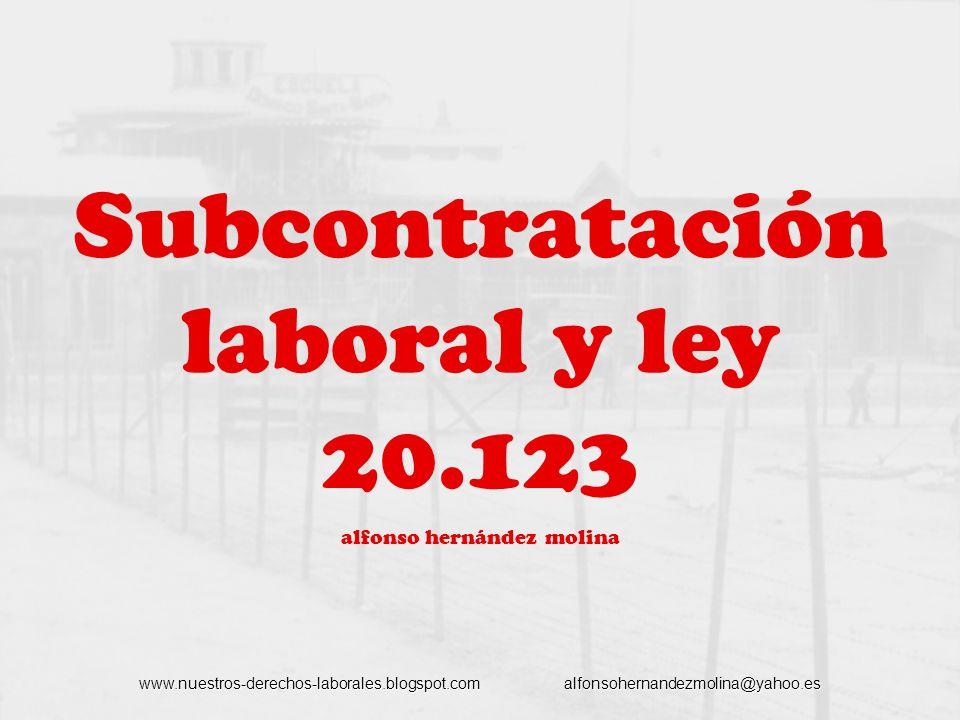 Subcontratación laboral y ley 20.123