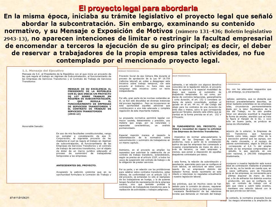 El proyecto legal para abordarla