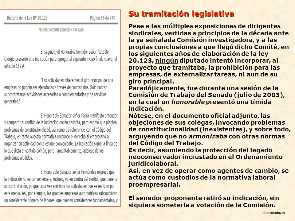Su tramitación legislativa