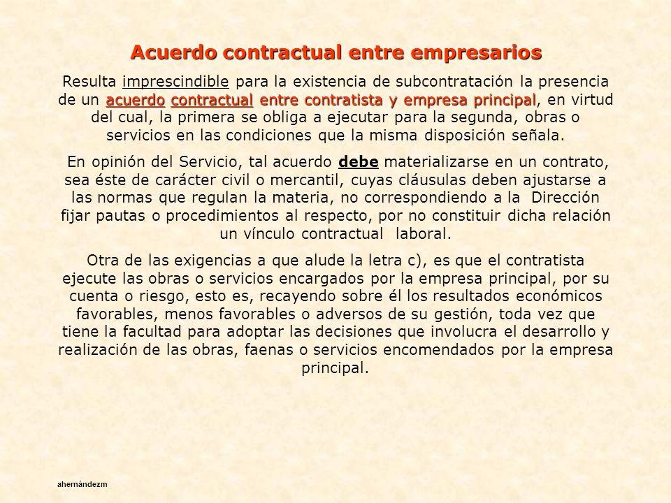 Acuerdo contractual entre empresarios