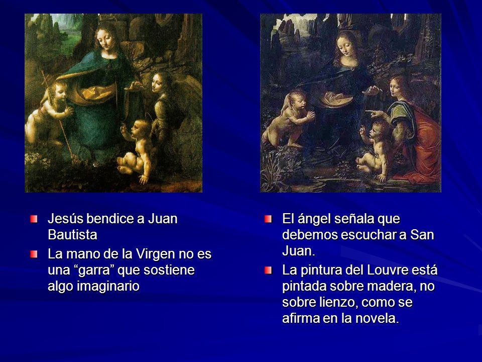 Jesús bendice a Juan Bautista