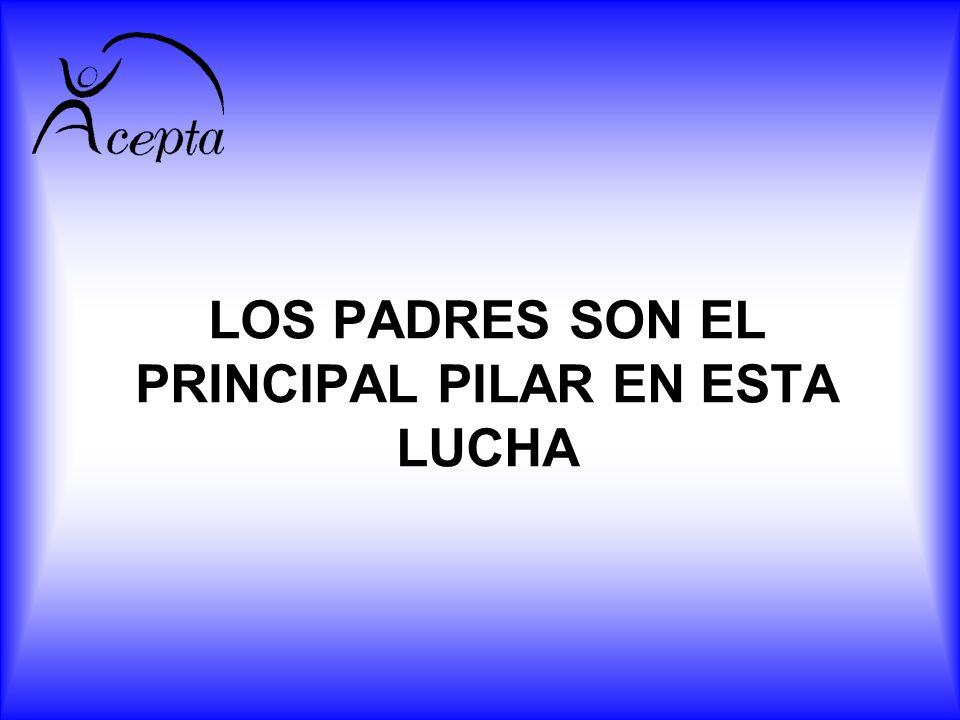 LOS PADRES SON EL PRINCIPAL PILAR EN ESTA LUCHA