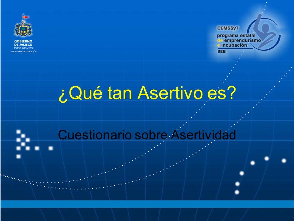 Cuestionario sobre Asertividad