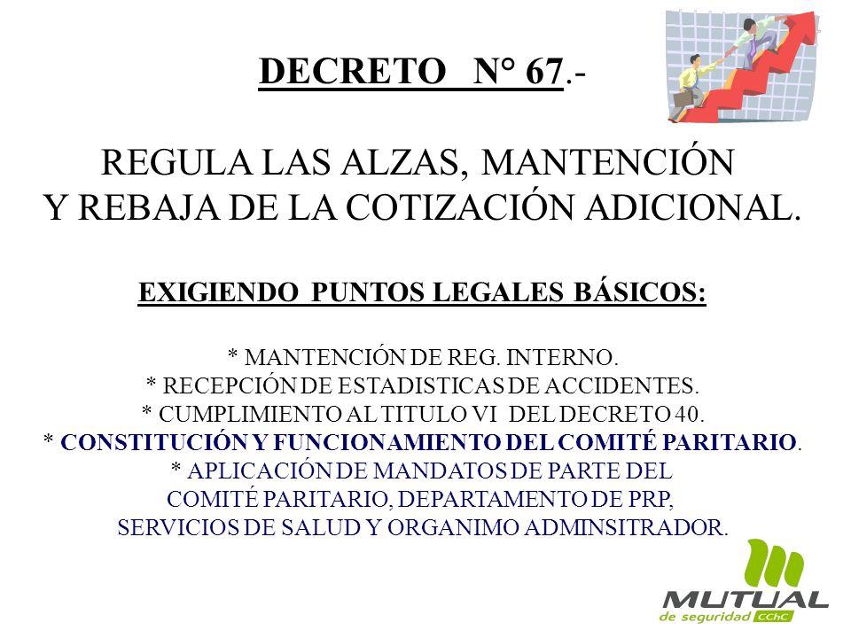 EXIGIENDO PUNTOS LEGALES BÁSICOS: