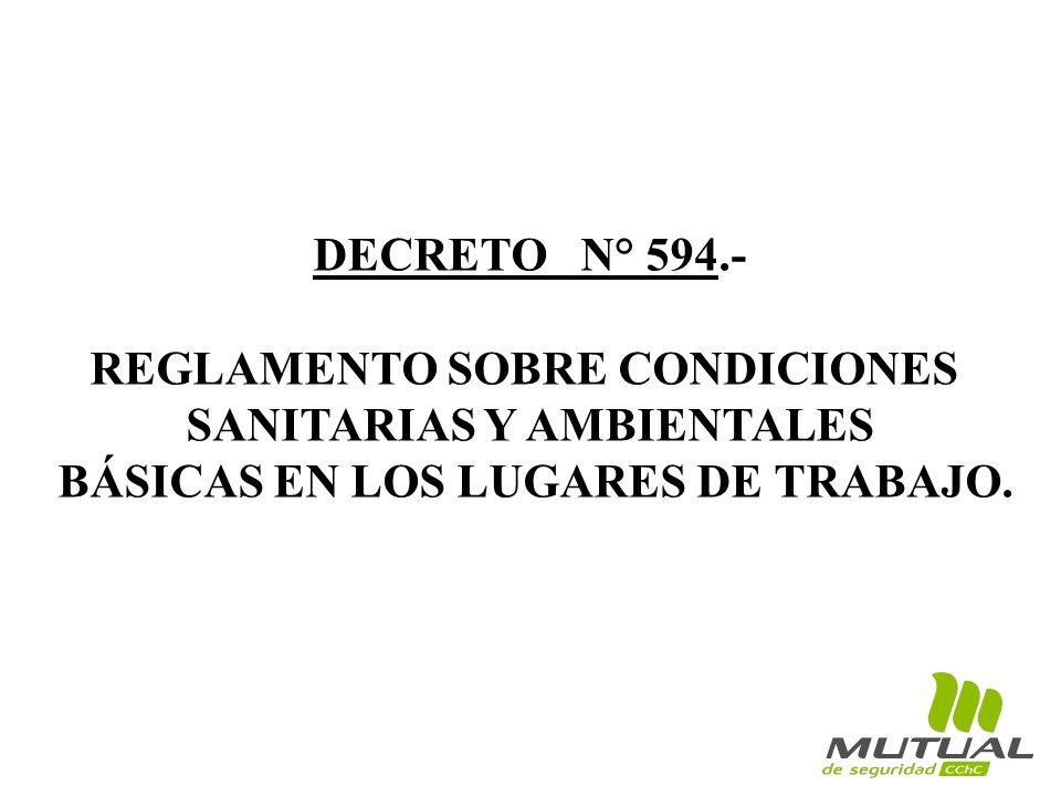 REGLAMENTO SOBRE CONDICIONES SANITARIAS Y AMBIENTALES