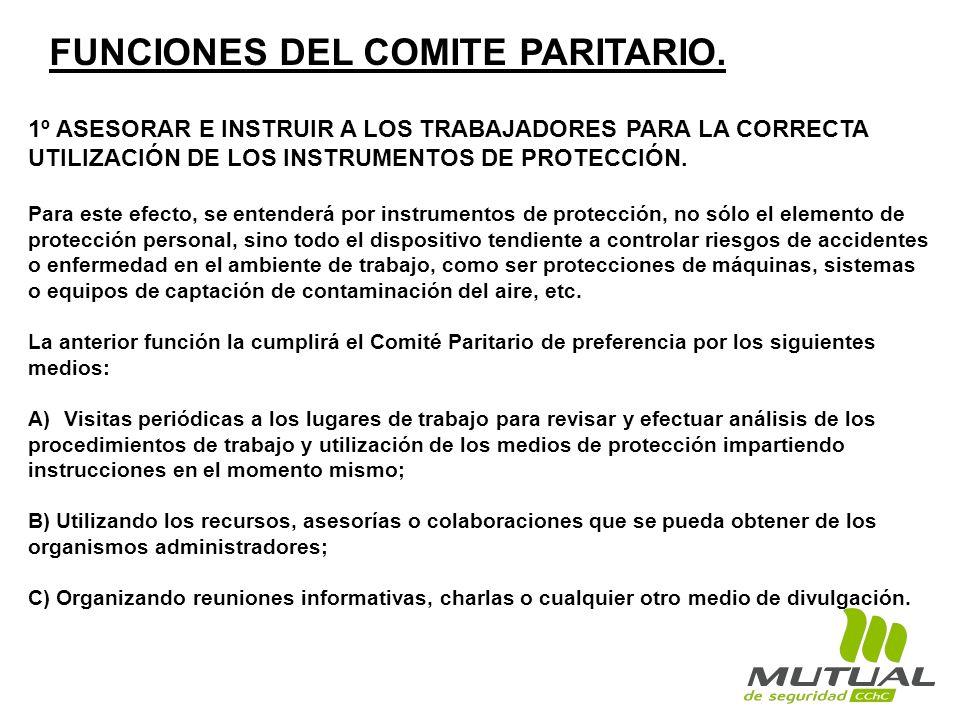 FUNCIONES DEL COMITE PARITARIO.