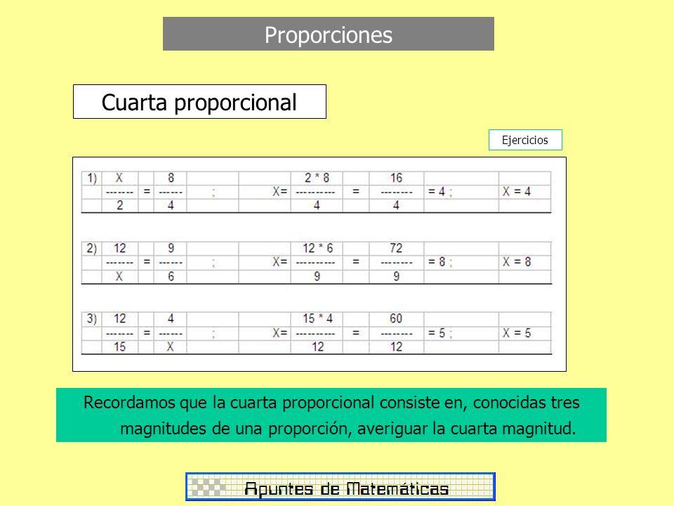 Proporciones Cuarta proporcional