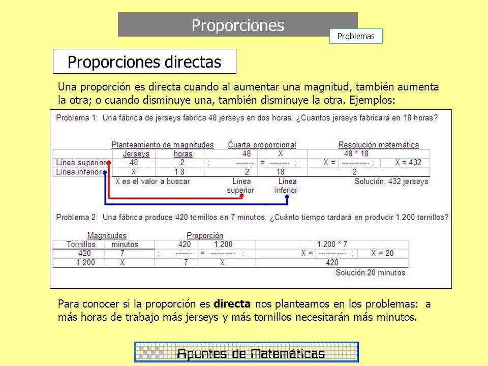 Proporciones directas