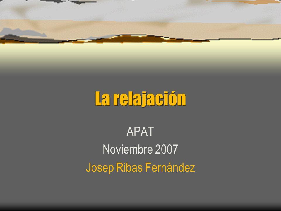 APAT Noviembre 2007 Josep Ribas Fernández