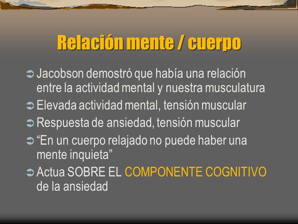 Relación mente / cuerpo