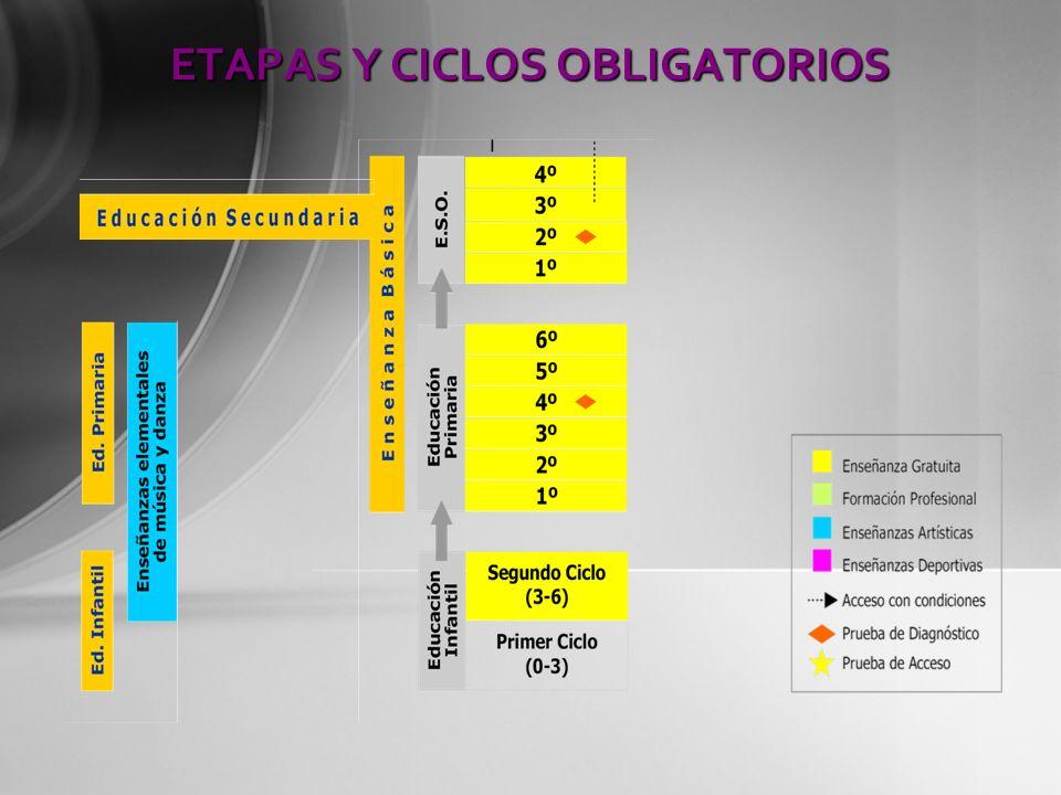 ETAPAS Y CICLOS OBLIGATORIOS