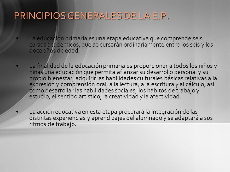 PRINCIPIOS GENERALES DE LA E.P.