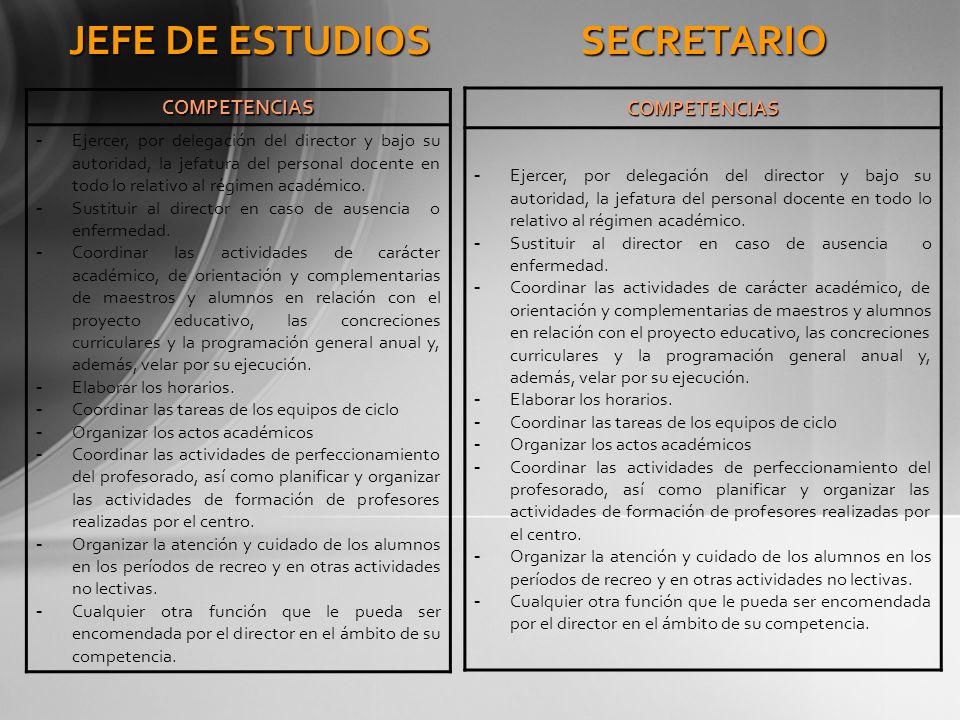 JEFE DE ESTUDIOS SECRETARIO