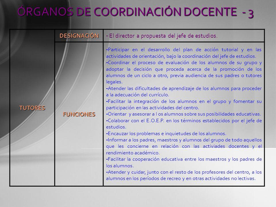 ÓRGANOS DE COORDINACIÓN DOCENTE - 3
