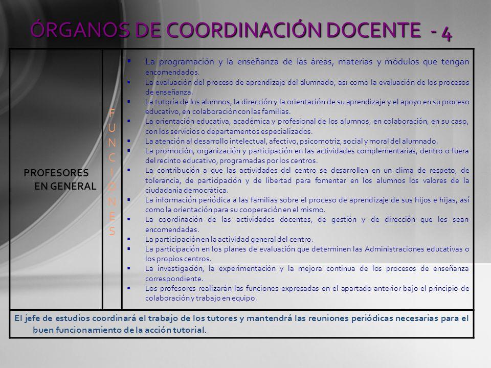 ÓRGANOS DE COORDINACIÓN DOCENTE - 4