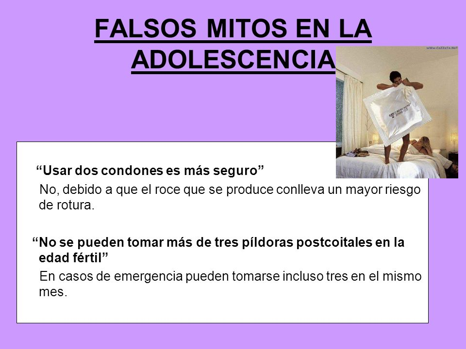 FALSOS MITOS EN LA ADOLESCENCIA