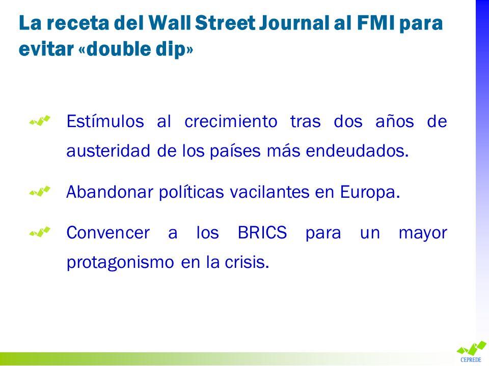 La receta del Wall Street Journal al FMI para evitar «double dip»