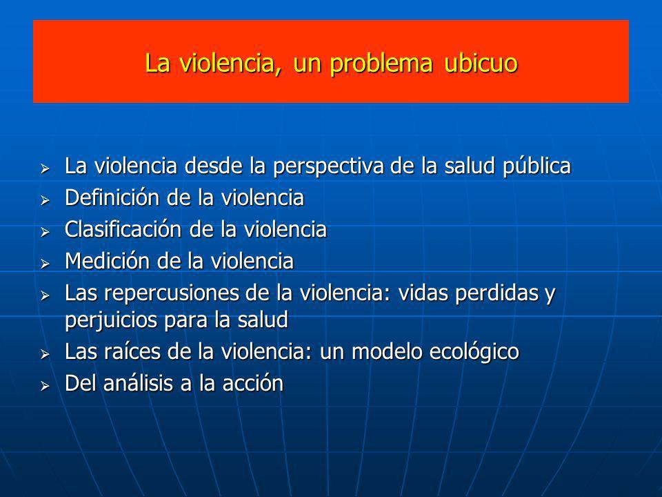 La violencia, un problema ubicuo
