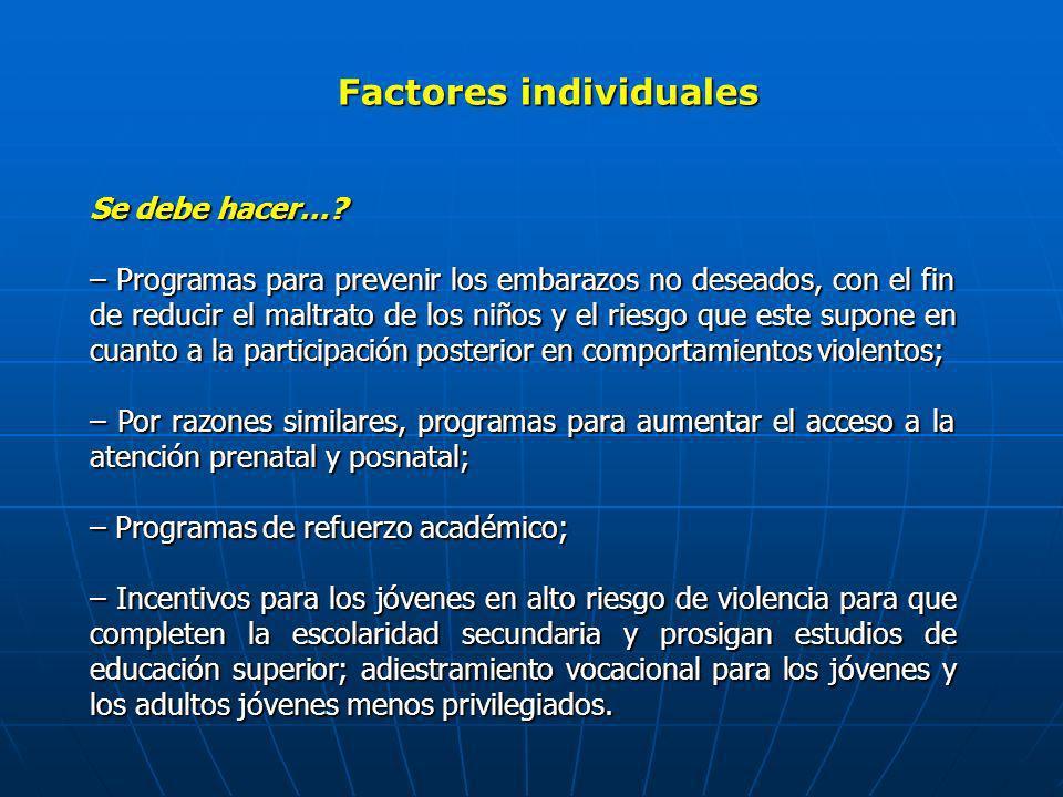 Factores individuales