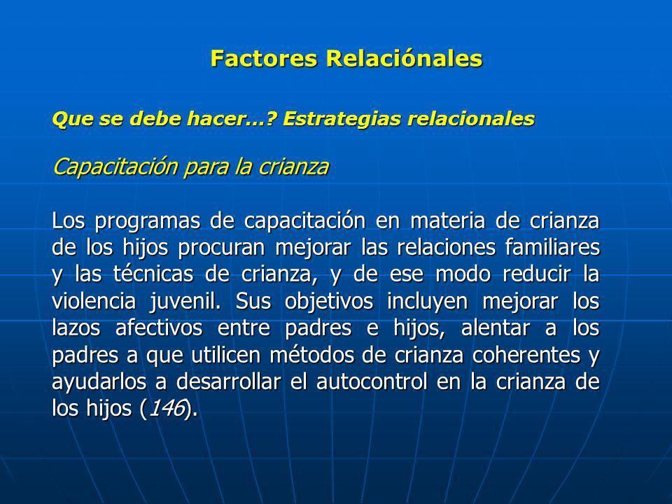 Factores Relaciónales