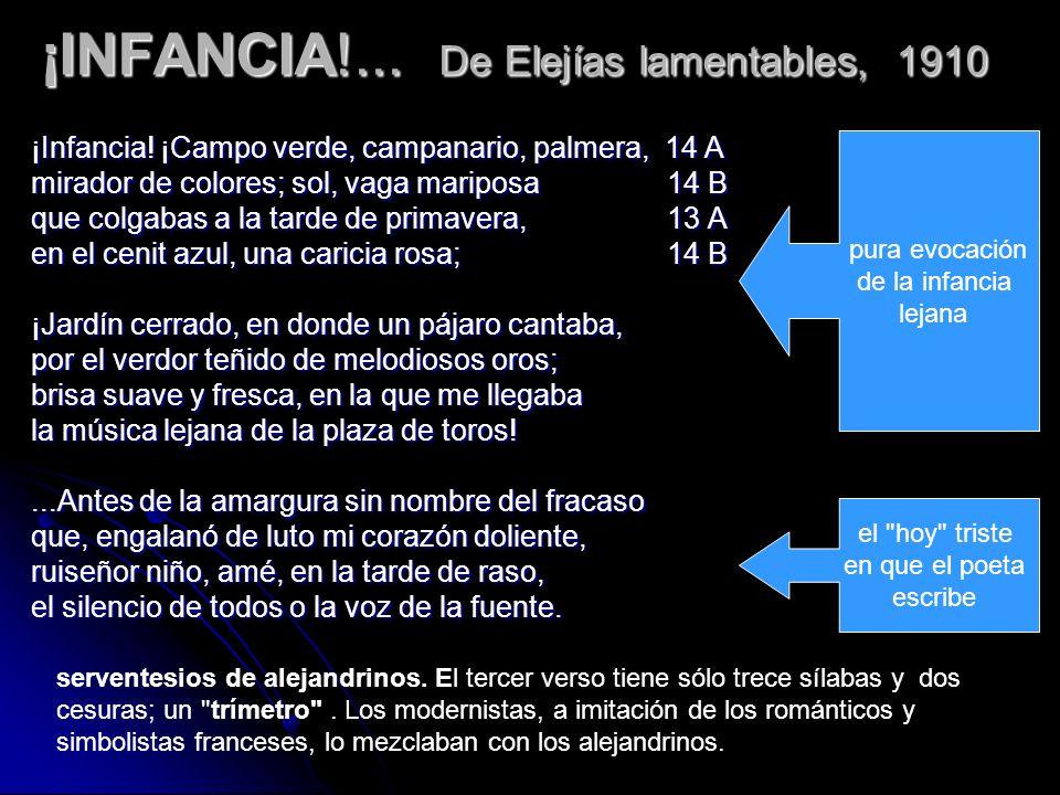 ¡INFANCIA!... De Elejías lamentables, 1910