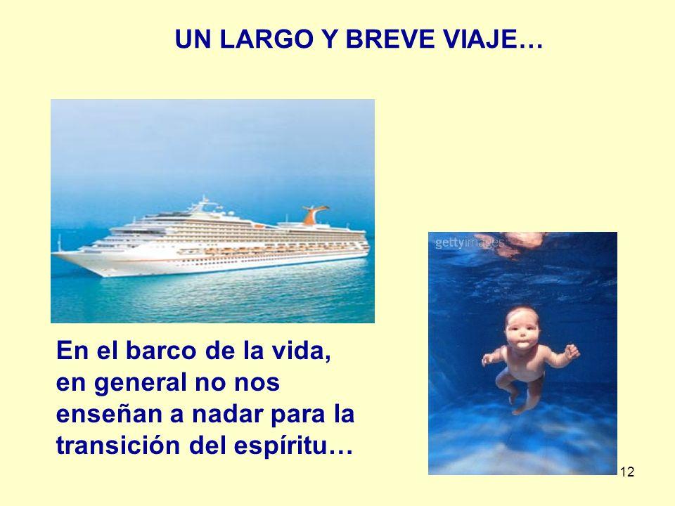 UN LARGO Y BREVE VIAJE… En el barco de la vida, en general no nos enseñan a nadar para la transición del espíritu…