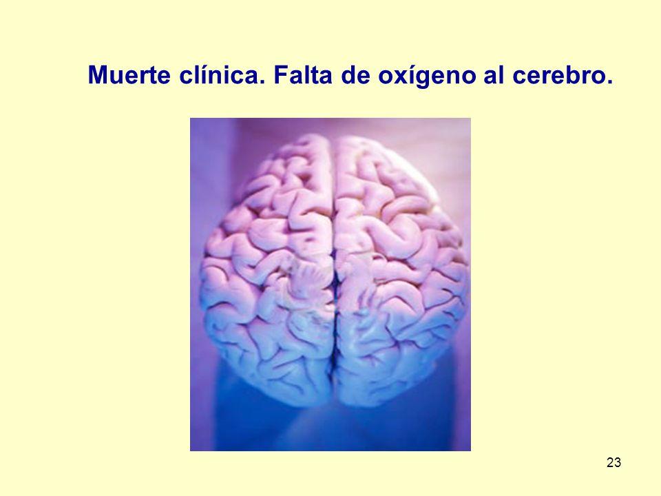 Muerte clínica. Falta de oxígeno al cerebro.