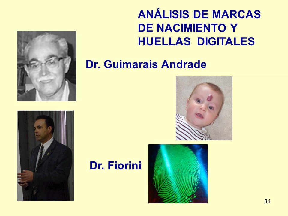ANÁLISIS DE MARCAS DE NACIMIENTO Y HUELLAS DIGITALES