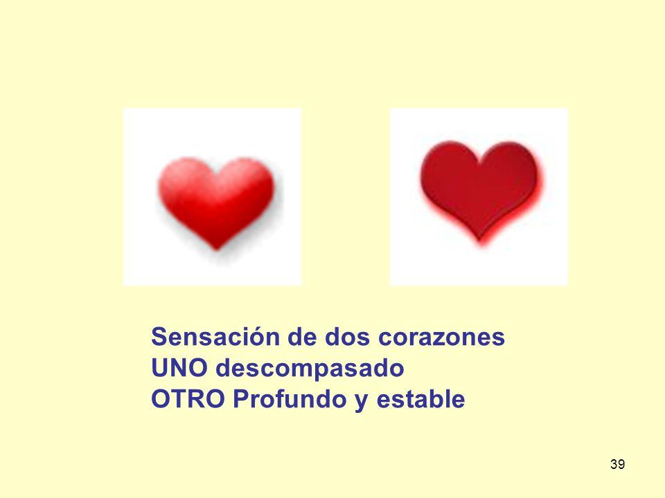 Sensación de dos corazones