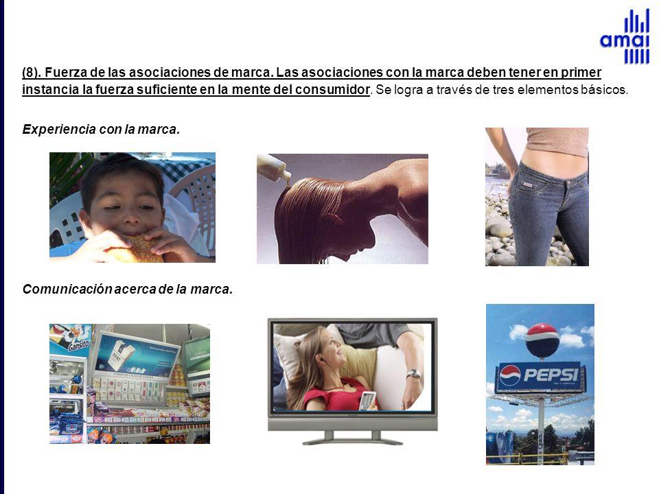 (8). Fuerza de las asociaciones de marca
