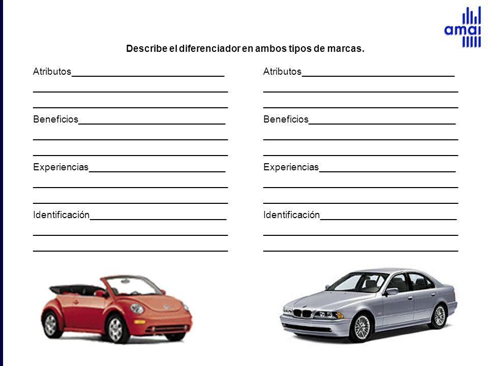 Describe el diferenciador en ambos tipos de marcas.