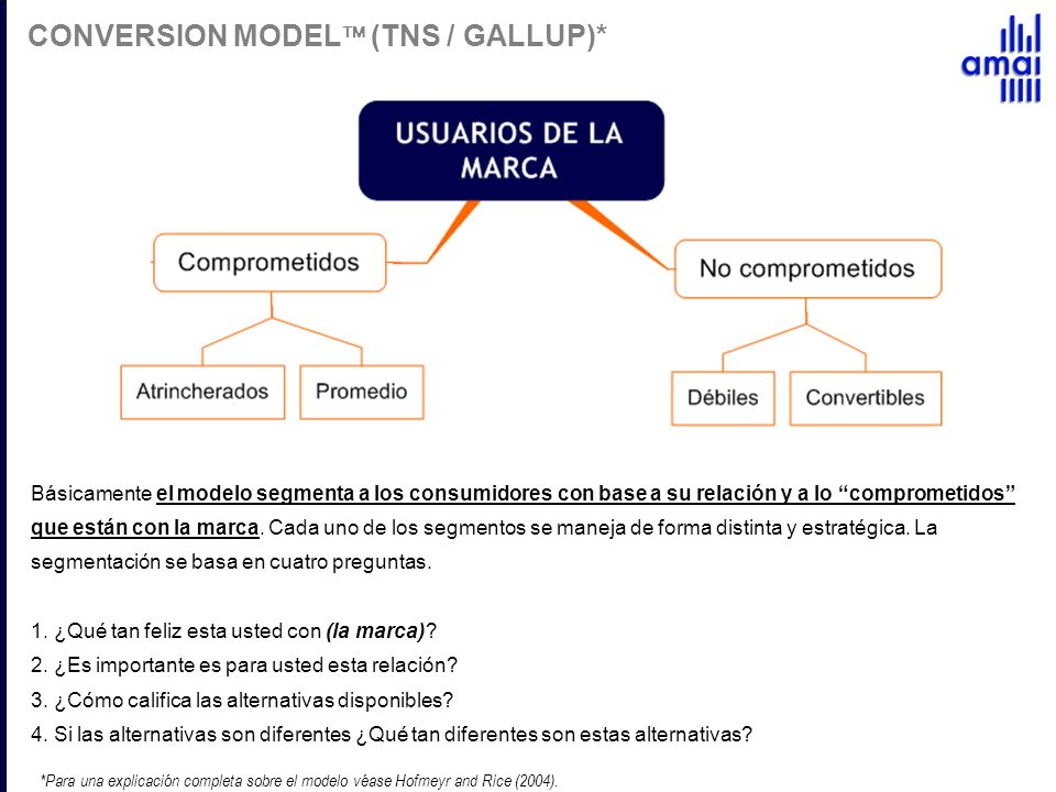 CONVERSION MODEL (TNS / GALLUP)*