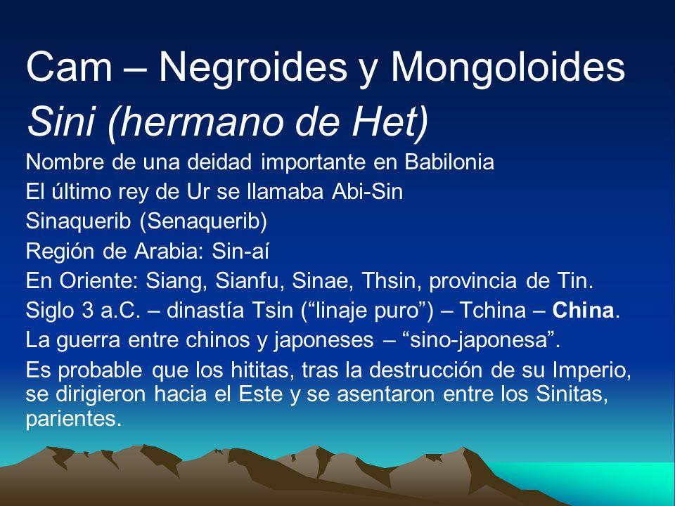 Cam – Negroides y Mongoloides Sini (hermano de Het)