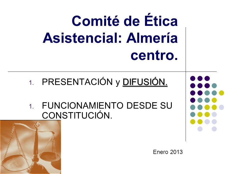Comité de Ética Asistencial: Almería centro.