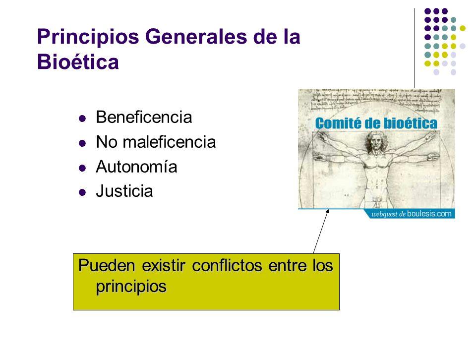 Principios Generales de la Bioética