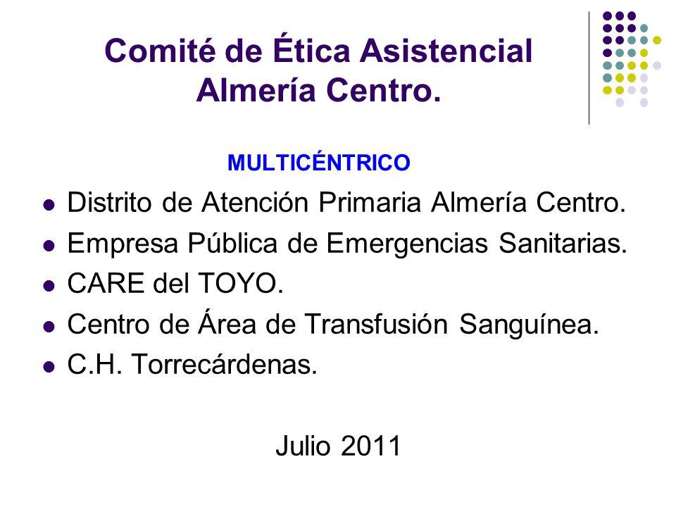 Comité de Ética Asistencial Almería Centro. MULTICÉNTRICO