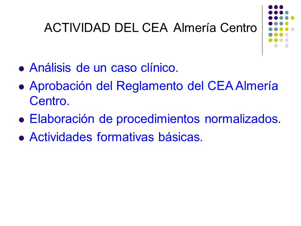 ACTIVIDAD DEL CEA Almería Centro