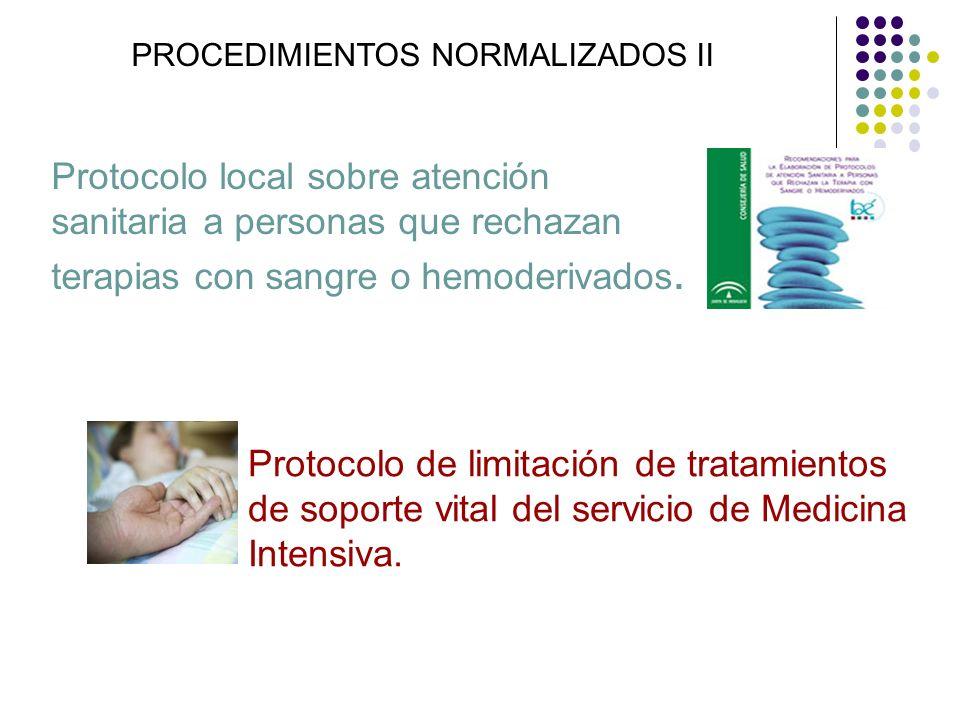 PROCEDIMIENTOS NORMALIZADOS II